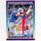1990 Score Football #189 Greg Montgomery RC - Houston Oilers