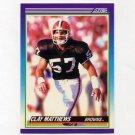 1990 Score Football #177 Clay Matthews - Cleveland Browns