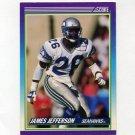 1990 Score Football #126 James Jefferson - Seattle Seahawks