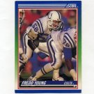 1990 Score Football #102 Fredd Young - Indianapolis Colts