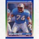 1990 Score Football #093 Bruce Matthews - Houston Oilers