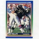1990 Score Football #036 Joe Phillips RC - San Diego Chargers