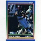 1990 Score Football #008 Leslie O'Neal - San Diego Chargers