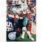 1991 Pro Set Platinum Football #220 Mark Higgs RC - Miami Dolphins