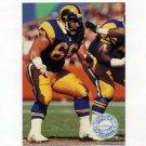 1991 Pro Set Platinum Football #217 Tom Newberry - Los Angeles Rams