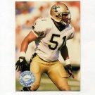 1991 Pro Set Platinum Football #078 Sam Mills - New Orleans Saints