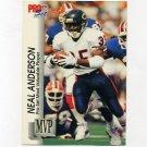 1992 Pro Set Football Gold MVPs #MVP17 Neal Anderson - Chicago Bears