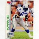 1992 Pro Set Football #655 Ronnie Lee RC - Seattle Seahawks