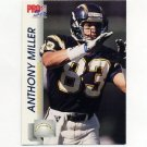 1992 Pro Set Football #639 Anthony Miller - San Diego Chargers