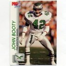 1992 Pro Set Football #610 John Booty - Philadelphia Eagles