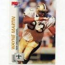 1992 Pro Set Football #588 Wayne Martin - New Orleans Saints