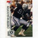 1992 Pro Set Football #542 Chester McGlockton RC - Los Angeles Raiders