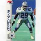 1992 Pro Set Football #474 Kenneth Gant RC - Dallas Cowboys