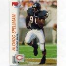 1992 Pro Set Football #453 Alonzo Spellman RC - Chicago Bears