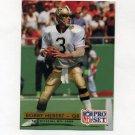 1992 Pro Set Football #254 Bobby Hebert - New Orleans Saints