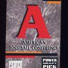1993 Power Football Draft Picks #29 AFC Logo Checklist Card