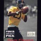1993 Power Football Draft Picks #23 Deon Figures - Pittsburgh Steelers