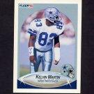 1990 Fleer Football #392 Kelvin Martin RC - Dallas Cowboys