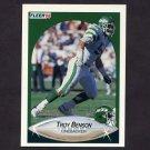 1990 Fleer Football #358 Troy Benson - New York Jets
