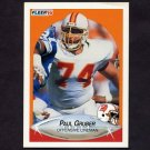 1990 Fleer Football #345 Paul Gruber - Tampa Bay Buccaneers
