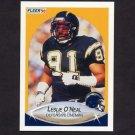1990 Fleer Football #312 Leslie O'Neal - San Diego Chargers
