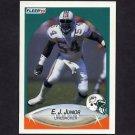 1990 Fleer Football #242 E.J. Junior - Miami Dolphins