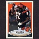 1990 Fleer Football #222 Leon White - Cincinnati Bengals