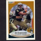 1990 Fleer Football #185 Jim Dombrowski RC - New Orleans Saints