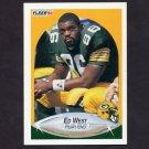 1990 Fleer Football #181 Ed West RC - Green Bay Packers