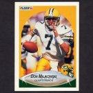 1990 Fleer Football #175 Don Majkowski - Green Bay Packers