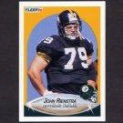 1990 Fleer Football #149 John Rienstra RC - Pittsburgh Steelers