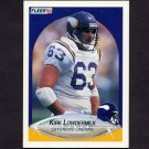 1990 Fleer Football #104 Kirk Lowdermilk - Minnesota Vikings