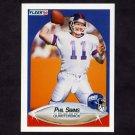 1990 Fleer Football #076 Phil Simms - New York Giants
