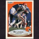 1990 Fleer Football #050 Mike Johnson - Cleveland Browns