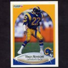 1990 Fleer Football #044 Vince Newsome RC - Los Angeles Rams
