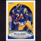 1990 Fleer Football #042 Buford McGee RC - Los Angeles Rams