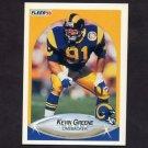 1990 Fleer Football #038 Kevin Greene - Los Angeles Rams