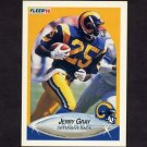 1990 Fleer Football #037 Jerry Gray - Los Angeles Rams