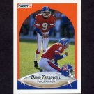 1990 Fleer Football #032 David Treadwell - Denver Broncos