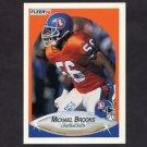 1990 Fleer Football #020 Michael Brooks RC - Denver Broncos
