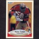 1990 Fleer Football #015 Keena Turner - San Francisco 49ers