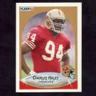 1990 Fleer Football #007 Charles Haley UER - San Francisco 49ers