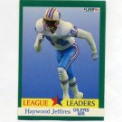 1991 Fleer Football #412 Haywood Jeffires LL - Houston Oilers
