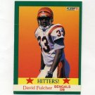 1991 Fleer Football #399 David Fulcher HIT - Cincinnati Bengals