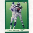 1991 Fleer Football #337 Calvin Williams - Philadelphia Eagles