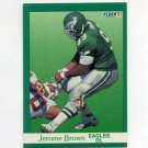 1991 Fleer Football #324 Jerome Brown - Philadelphia Eagles