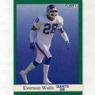 1991 Fleer Football #321 Everson Walls - New York Giants