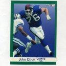 1991 Fleer Football #310 John Elliott - New York Giants