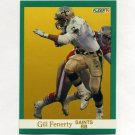 1991 Fleer Football #293 Gill Fenerty - New Orleans Saints