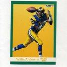 """1991 Fleer Football #264 Willie """"Flipper"""" Anderson - Los Angeles Rams"""